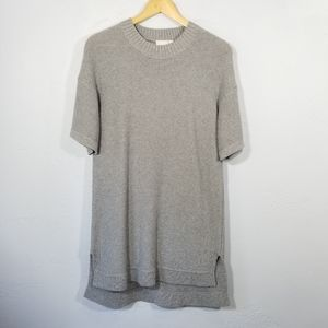ELK The Label Knit Dress Casual Short Sleeve Gray